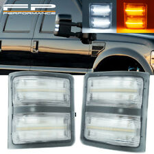 2008-2016 Ford F250 Super Duty Towing Mirrors Clear Lens LED Lights Signal Pair