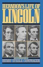 Herndon's Life Of Lincoln (Da Capo Paperback)-ExLibrary