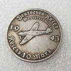 German Third Reich WW2  ---  Messerschmitt Bf 109  Coin ..