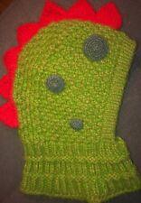 Handmade Dinosaur  Warm Hat Hooded Scarf Knitted Girls Boys