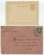 Two Suriname Postal History Items 1940s and earlier postal card [y3015]