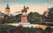 DARMSTADT GERMANY HORSE SOLDIER STATUE WW1 MILITARY FELDPOST POSTCARD 1915 (219)