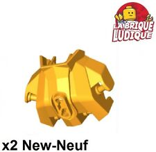 LEGO x 20 Pearl Gold Hero Factory Armor with Ball Joint Socket Size 3 chima