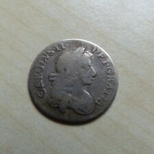 More details for charles ii threepence silver 1680 silver nice grade (myrefn18198)