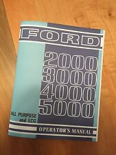 Ford 2000 3000 4000 5000 Tractors Operator's Manual