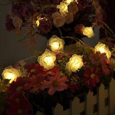 30-LED Rose Flower String Fairy Light Lamp for Wedding Christmas Tree Decor
