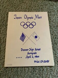 1964 Japan v USA Olympic Track & Field Meet Program
