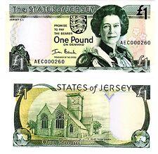 Jersey Billet 1 Pound ND P26 PETIT NUMERO SERIE LOW S/N REINE ELIZABETH UNC NEUF