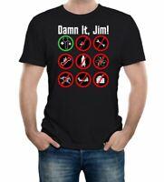 Men's Damn It Jim T-Shirt Star Trek Captain Kirk Bones Trekkie Spock Enterprise