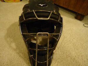 "Mizuno Samurai Catcher's Helmet MSCHY200 Youth Size 6.5"" to 7.25"" Black Mask"