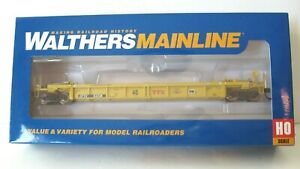 Walthers Ho Mainline55' Thrall Well Car #910-5644 Modern Red TTX  SOLD OUT NIB