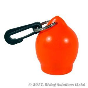 Scuba Diving Dive Silicon Rubber Ball Octopus Holder Plastic Clip, Orange