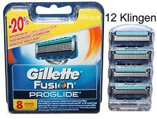 12 Gillette Fusion ProGlide Rasierklingen 4er Blister + 8er OVP = 12er Gillete