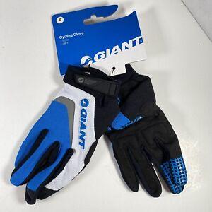 Giant Horizon LF Long Finger Bike Cycling Gloves Size Small S Blue