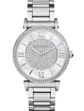 Michael Kors Caitlin Ladies Watch Silver-tone White Dial MK3355