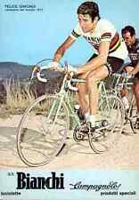 Felice GIMONDI cyclisme cp postcard 70s Cycling Ciclismo BIANCHI world champion