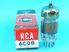 RCA 6AQ8 ECC85 NOS NIB VACUUM TUBE O GETTER 1962 SMOKIE BLACK PLATE SINGLE