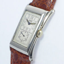 ROLEX PRINCE  - Art Deco - in Edelstahl - 1930er JAHRE very rare Doctor's watch