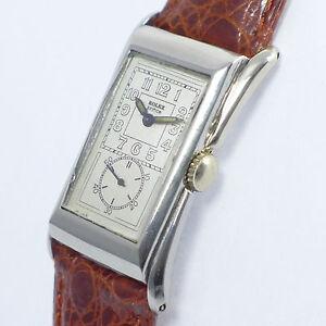 ROLEX PRINCE  - Art Deco - in Edelstahl - 1930er Jahre very rare Doctor's watch