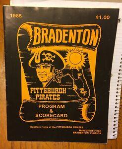 1985 PITTSBURGH PIRATES SOUVENIR PROGRAM BRADENTON FLORIDA