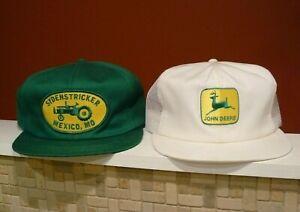 VTG 1980's John Deere K Brand K Products Farm Supply Snapback Mesh Trucker Hats