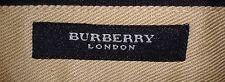 Burberry London 100% Lino Azul Marino Plisado Pantalones-W38/L38 (abierto el dobladillo)