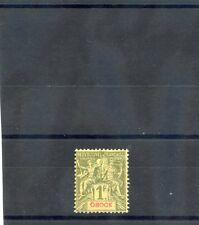 OBOCK Sc 44(YT 44)*F-VF HR 1892 1F OLIVE, THIN SPOT, $110