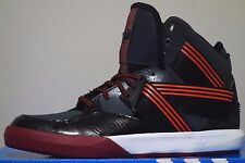 ADIDAS C-10 Mens Size 10 RED / BLACK / WHITE / BURGANDY Basketball Shoes