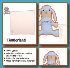 Kids Timberland Baby soft Blanket PUPPY Comforter Security Blankie with Toy