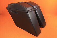 "Bagger 4"" Stretched Saddlebags Lid Touring HARLEY ROAD KING Softail Fatboy 97-13"
