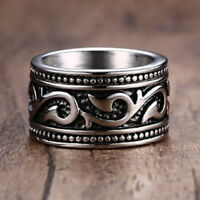 Vintage Antique 925 Silver Rings Engagement Band Ring Men's Jewelry Gift Sz 7-12