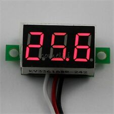 Mini DC 0.1-30V Red LED 3-Digital Display Voltage Voltmeter Meter for Motorcycle