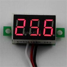 Mini DC 0.1-30V Red LED 3-Digital Display Voltage Voltmeter Panel for Motor Car
