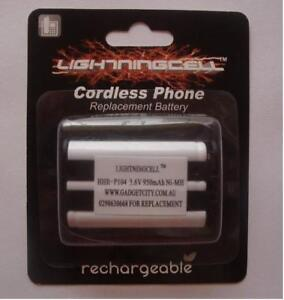 2 X PANASONIC CORDLESS PHONE REP BATTERY HHR-P104 HHR-P104A