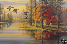 Autumn Glow by Mary Pettis Wildlife Ducks Rustic Cabin County Landscape VCS