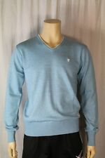 Fenchurch Mens Blue Boy Marl V Neck Jumper Size Medium (F1)