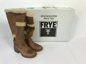 Ladies Light Brown Leather Calf High FRYE Boots - UK Size 6.5  Z5