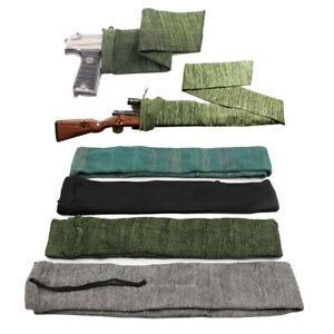 "14""/54""/62"" Tactical Silicone Gun Sock Rifle Shotgun Large Cover Sleeve Case Bag"