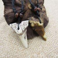 unisex - schmuck nachahmung yak knochen - kette haifischzahn - anhänger amulet