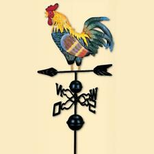Rooster Weather Vane Kit Colored Drawing Cock Iron Wind Vane Garden Decor AU