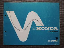 JDM HONDA TLM50 E AD07 Original Genuine Parts List Catalog TLM 50