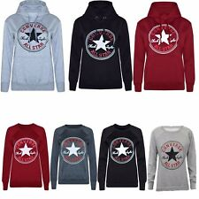Ladies Converse Print Hoodies Sweatshirts Graphic Warm Winter Plus Size