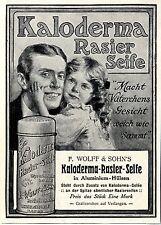F. Wolff & Sohn`s Karlsruhe Kloderma Rasier Seife Historische Annonce 1913