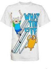 Authentic Cartoon Network Adventure Time What Time Is It Finn & Jake T Shirt S