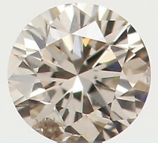 Natural Loose Diamond Round SI1 Clarity Brown Color 2.70 MM 0.08 Ct L5299