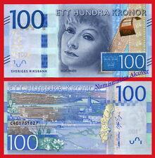 SUECIA SWEDEN 100 Kronor coronas Greta Garbo 2016 Pick 71 SC / UNC