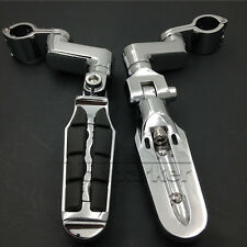 1 1/4'' Highway Crash Bar Foot Peg For Yamaha V-Star XVS 650 1100 Custom Silvera