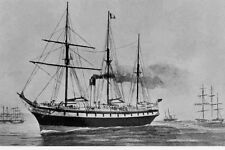 ALHAMBRA -  P & O Line built 1855 Sketch art c1882 modern digital Postcard