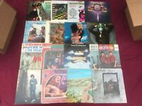 7 Classic Rock Folk Country VG++ Record LOT 60-80s Albums Mixed Vinyl Glam Soft