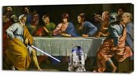 4 Sizes - STAR WARS The Last Supper CANVAS PRINT Home Wall Decor Movie Giclee